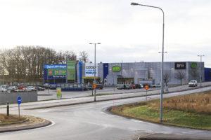 Nuvarande utseende Ingelsta med anknytande trafikleder och parkering